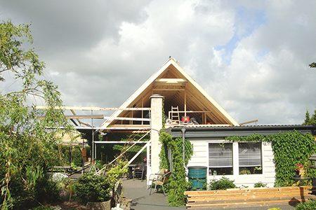 Ombygning 1- planshus - spær